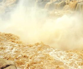 China Yellow River Hukou Waterfall Stock Photo 02