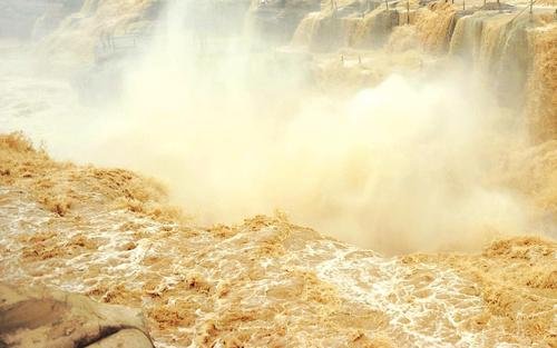 China Yellow River Hukou Waterfall Stock Photo 02