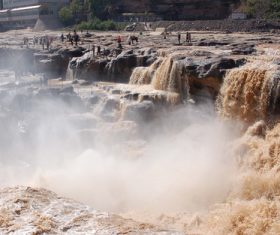 China Yellow River Hukou Waterfall Stock Photo 03