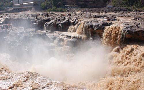 China Yellow River Hukou Waterfall Stock Photo 03