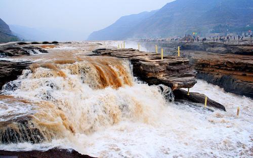China Yellow River Hukou Waterfall Stock Photo 06