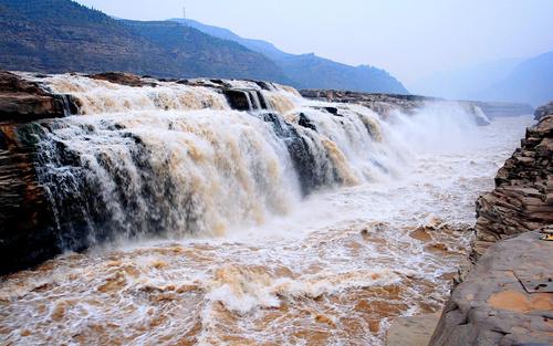 China Yellow River Hukou Waterfall Stock Photo 07