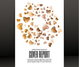 Chocolate heart with report cover vector