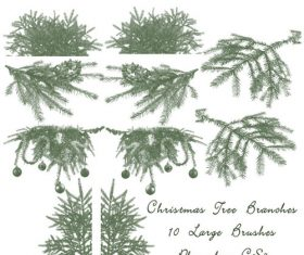 Christmas Tree Branch Photoshop Brushes