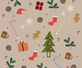 Christmas elements vector background illustration