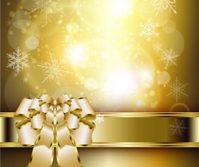 Christmas golden luxury background vector 01