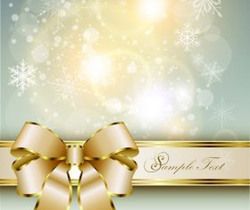 Christmas golden luxury background vector 02
