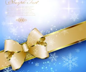 Christmas golden luxury background vector 03
