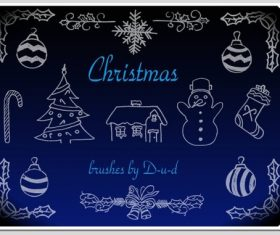 Christmas handmade Photoshop Brushes