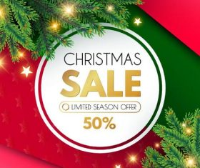 Christmas limited season offer design vector