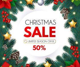 Christmas sale season offer vectors