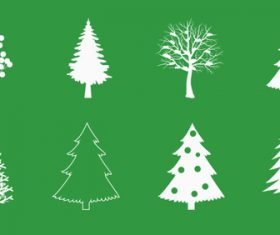 Christmas tree vector silhouette icon