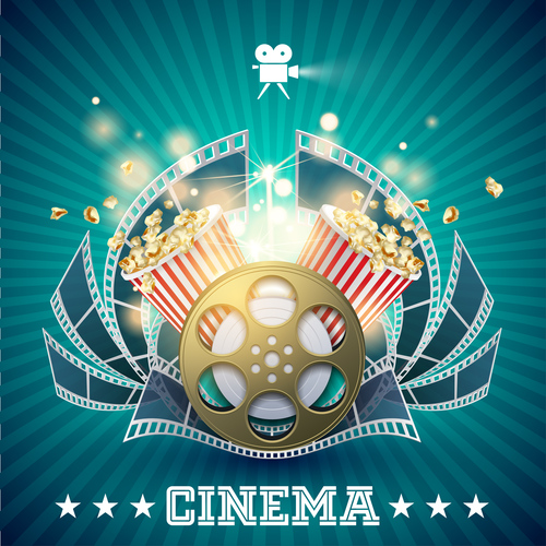 Cinema object background vector material 01