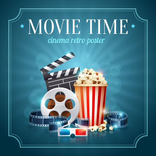 Cinema object background vector material 02
