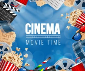 Cinema object background vector material 03