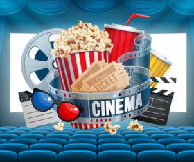 Cinema object background vector material 04