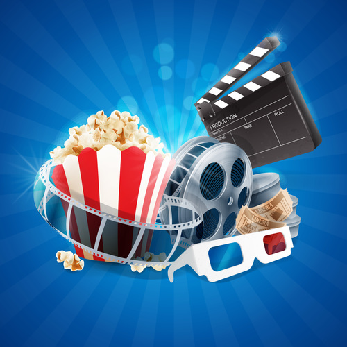 Cinema object background vector material 05