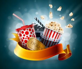 Cinema object background vector material 06