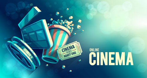 Cinema object background vector material 08