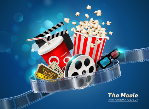Cinema object background vector material 09