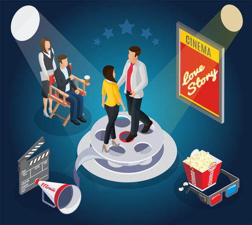 Cinema object background vector material 10