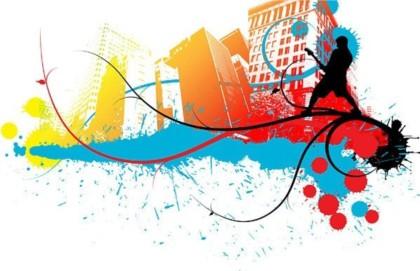 City Street Music trendsetter vector graphics