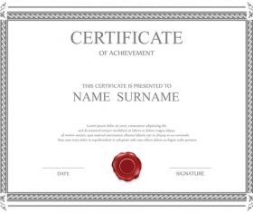 Classical styles certificates template vector 09