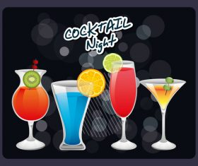 Cocktail night vector material