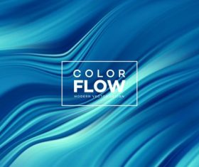Color flow wave abstract background vector 01
