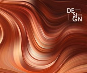 Color flow wave abstract background vector 04