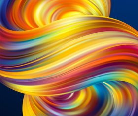 Color flow wave abstract background vector 07
