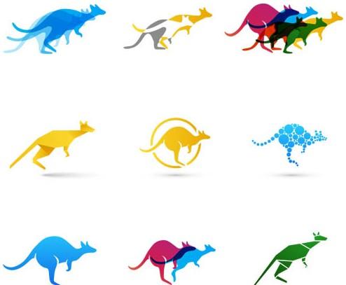Colored Kangaroo vector