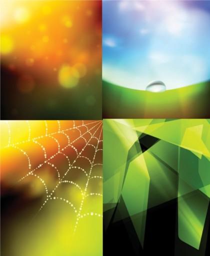 Colorful fantasy background design vectors