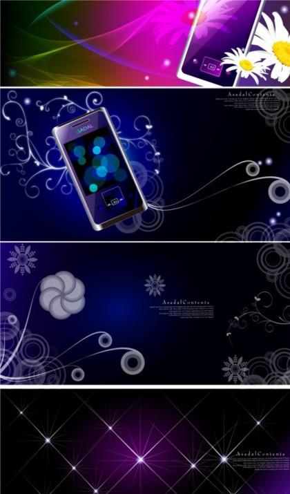 Colorful fantasy mobile phone background vector design
