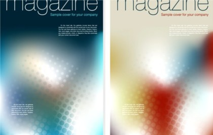 Colorful magazine cover backgrounds vectors graphic