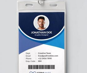 Company Office Identity Card PSD Template