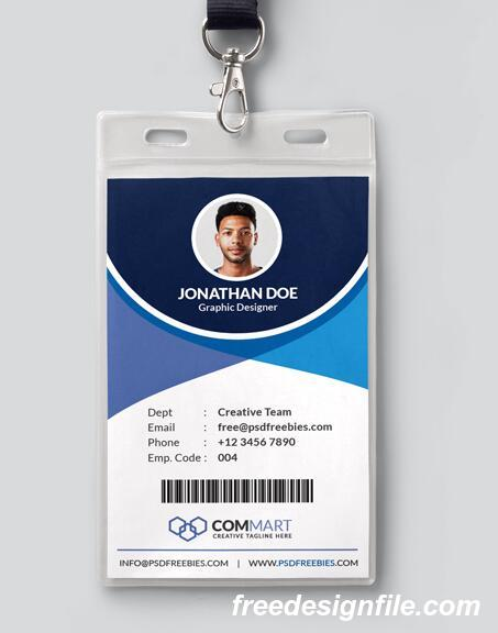 Company Id Card Format from freedesignfile.com