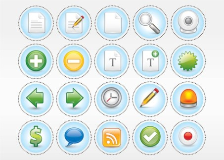 Computer Icon Pack set vector