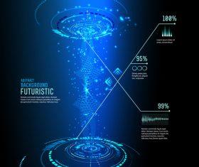 Concept futuristic tech background vectors 01
