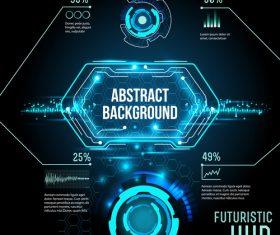 Concept futuristic tech background vectors 02