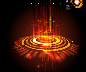 Concept futuristic tech background vectors 04