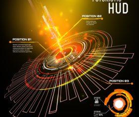 Concept futuristic tech background vectors 05