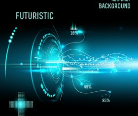 Concept futuristic tech background vectors 07