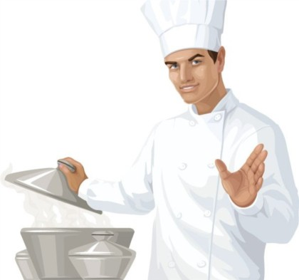 Cooking food chef vector