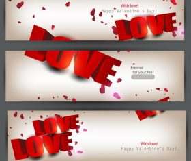 Creative banners for valentine day vector