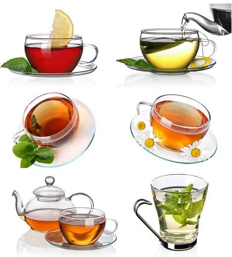 Cup TeCollage art vector set