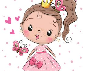 Cute cartoon girl vectors material 2