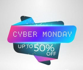 Cyber Monday sale with special offer labels vectors 01