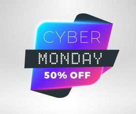 Cyber Monday sale with special offer labels vectors 07