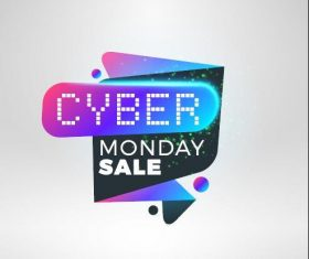 Cyber Monday sale with special offer labels vectors 08